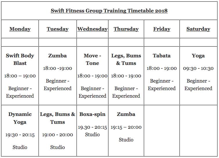 swift fitness york classes