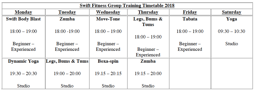 gyms classes in york